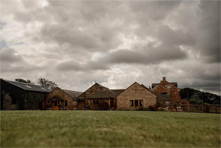 Wide shot of Heaton House Farm