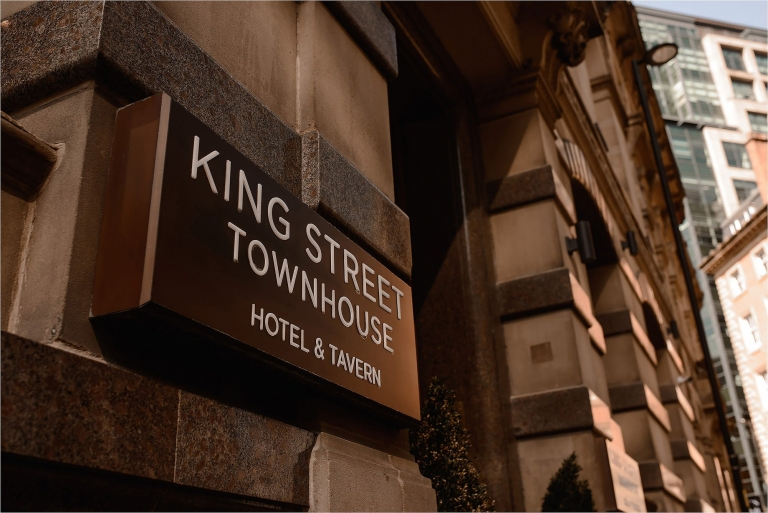 Sign outside King Street Townhouse